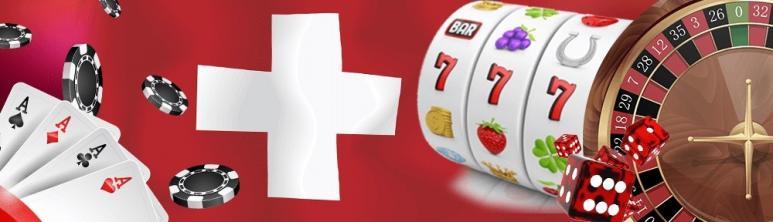 Slotspiel, Spielkarten, Token, Roulettescheibe, Würfel, Schweizflagge